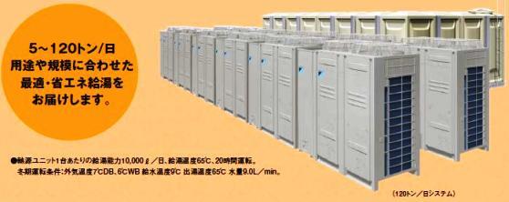 大型業務用ヒートポンプ給湯システム MEGA・Q